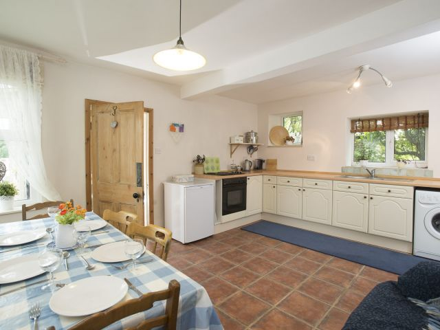 Self catering kitchen and dining table | Sally's Cottages in the Eden Valley